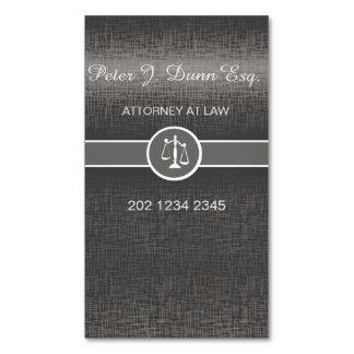 Advogado profissional metálico de prata do