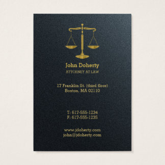 Advogado profissional no ouro da lei   cartão de visitas