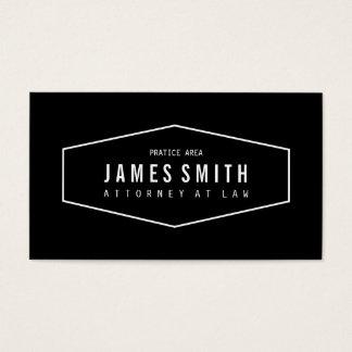 Advogado profissional preto e branco retro cartão de visita