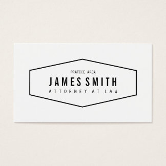 Advogado profissional retro cartão de visita