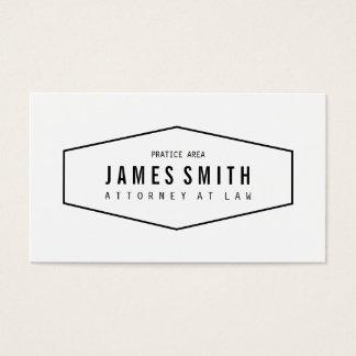 Advogado profissional retro cartão de visitas
