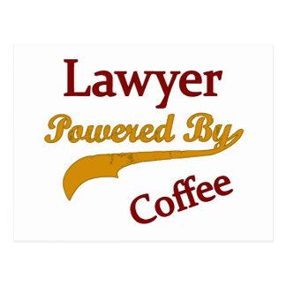 Advogado psto pelo café cartão postal