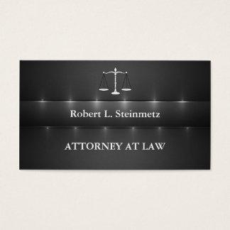 Advogado simples da elegância na lei cartão de visitas