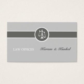 Advogado simples neutro das Justiça-Escalas da Cartão De Visitas