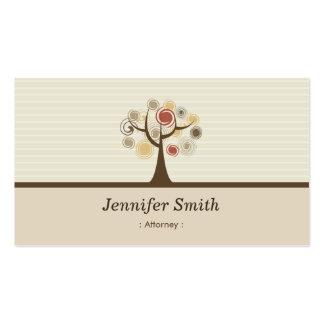 Advogado - tema natural elegante cartão de visita