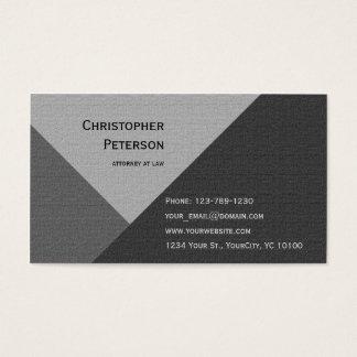 Advogado Textured geométrico minimalista na lei Cartão De Visitas