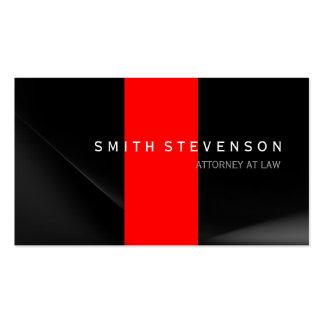 Advogado vermelho cinzento preto no cartão de cartão de visita