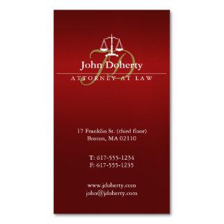 Advogado vermelho em escalas elegantes da lei | de