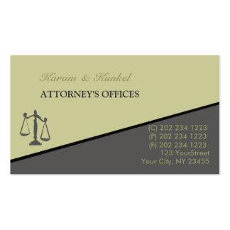 Advogados inclinados do caixeiro de escritório do cartão de visita