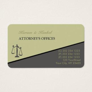 Advogados inclinados na moda modernos do advogado cartão de visitas