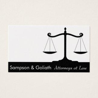 Advogados no cartão de visita da lei