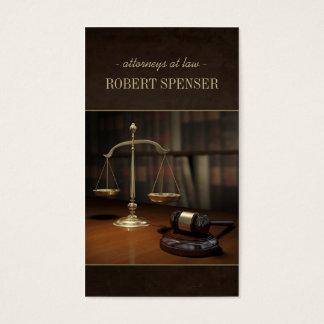 Advogados no cartão do notário da escala de