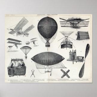 Aeronáutica - máquinas aéreas pôster