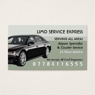 Aeroporto do serviço do táxi do Limo e tabela de Cartão De Visitas
