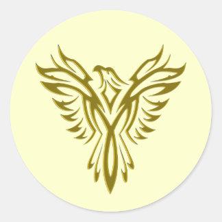 Aferidores dourados do envelope da ascensão de Pho Adesivos
