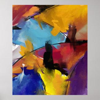 "Afixar retangular vertical ""Abstract 1412 "" Poster"