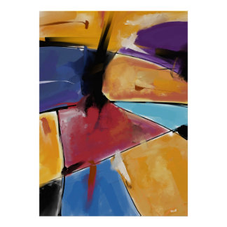"""Afixar vertical grande modelo """"Abstract 1445 """" Poster"""