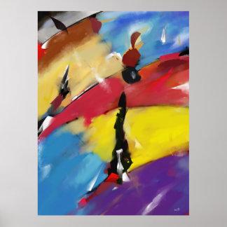 """Afixar vertical grande modelo """"Abstract 1508 """" Poster"""