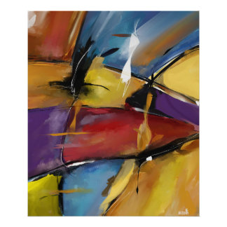 """Afixar vertical médio modelo """"Abstract 1509 """" Poster"""