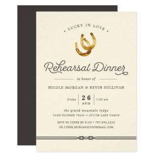 Afortunado no convite do jantar de ensaio do amor