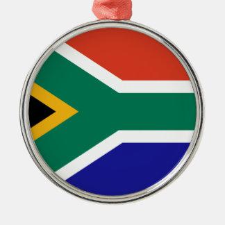 África do Sul Ornamento Redondo Cor Prata