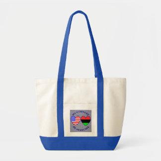 Afro-americano meu país minha herança bolsas para compras