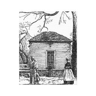 Afro-americanos preto e branco das canvas impressão de canvas esticada