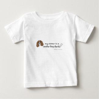 ag5 spaniel de rei descuidado Charles Camiseta Para Bebê