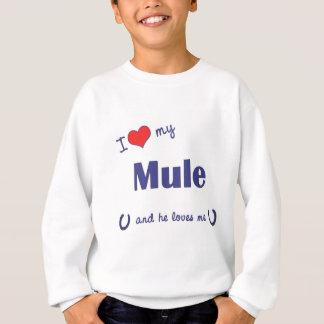 Agasalho Eu amo minha mula (a mula masculina)