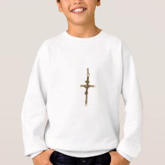 Agasalho Ouro transversal do Jesus Cristo horizontal