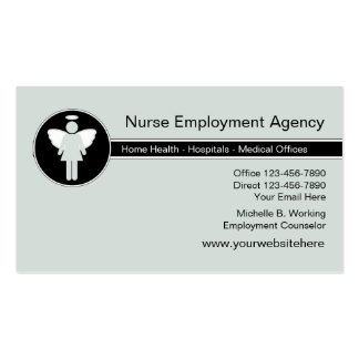 Agência de emprego médica cartão de visita