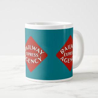 Agência expressa da estrada de ferro jumbo mug