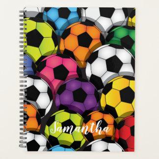 Agenda Bolas de futebol coloridas semanais/mensalmente