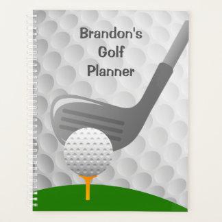 Agenda Semanalmente Golfing do design/mensalmente