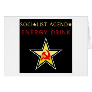 Agenda socialista cartão