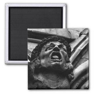 Agonia da gárgula gótico dos Imps cortantes Ímã Quadrado