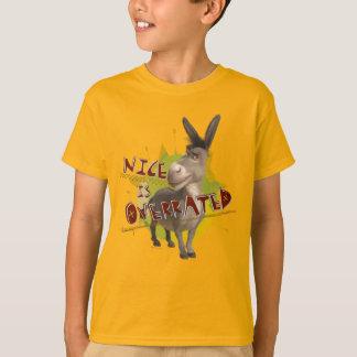 Agradável é avaliado em excesso t-shirt