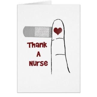 Agradeça a um cartão do vazio da enfermeira