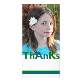 Agradece ao cartão com fotos cartão com foto