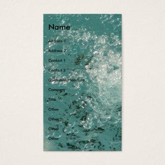 Água abstrata do respingo cartão de visitas