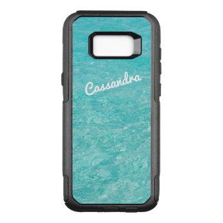 Água azul clara personalizada do caso | da borda capa OtterBox commuter para samsung galaxy s8+