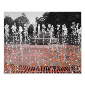 Água congelada impressão fotográficas