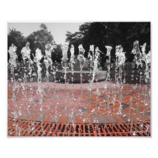 Água congelada impressão de foto