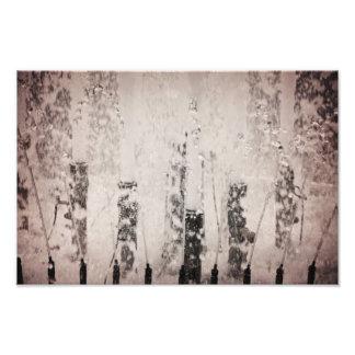 Água da fonte impressão fotográfica