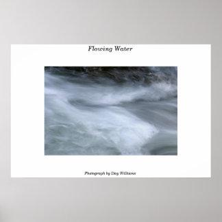 Água de fluxo poster