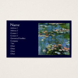 Água Lillies por Monet Cartão De Visitas