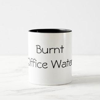 Água queimada do escritório caneca dois tons