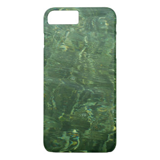 Água sobre a foto (azul e verde) da grama II do Capa iPhone 7 Plus