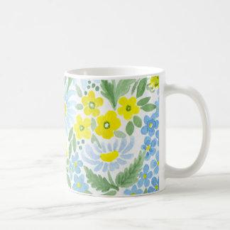 Aguarela. As flores do campo. Camomila Caneca De Café