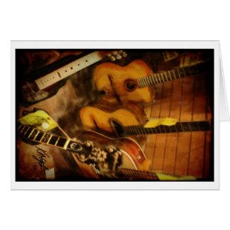 Aguarela das guitarra cartão